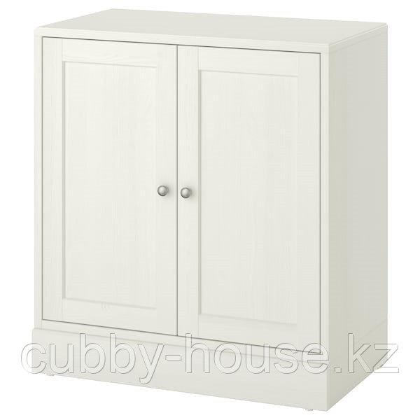 ХАВСТА Шкаф с цоколем, белый, 81x47x89 см