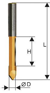 Фреза кромочная прямая ф6,3х19мм хв. 8мм