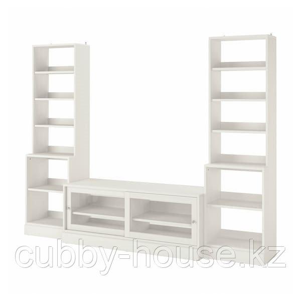 ХАВСТА Шкаф для ТВ, комбинация, белый, 282x47x212 см