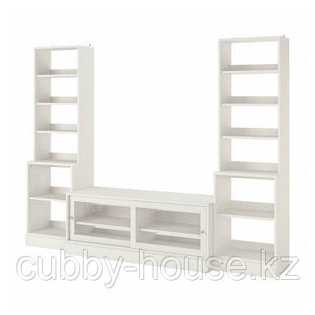 ХАВСТА Шкаф для ТВ, комбинация, белый, 282x47x212 см, фото 2