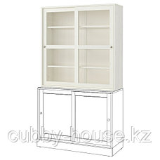 ХАВСТА Шкаф-витрина, темно-коричневый, 121x35x123 см, фото 2