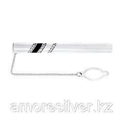Зажим для галстука SOKOLOV серебро с родием, эмаль фианит , классика 94090003