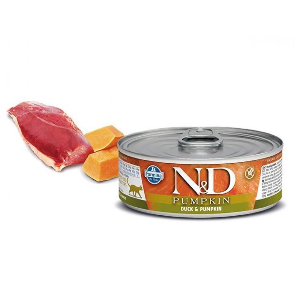 N&D Консервы для кошек Утка и тыква