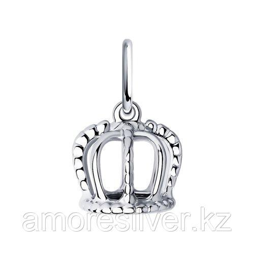 Подвеска SOKOLOV серебро с родием, без вставок, корона 94032525