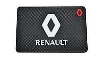 Резиновый коврик на панель для телефона с логотипом Renault