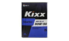 Масло трансмиссионное KIXX 80w90 4л.