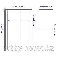 ХАВСТА Шкаф, серый, 81x35x123 см, фото 3