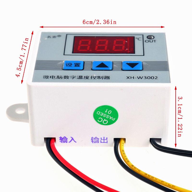 Терморегулятор электронный мощный термостат на 220V до 6000 Ватт - фото 3