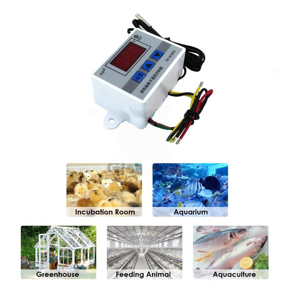 Терморегулятор электронный мощный термостат на 220V до 6000 Ватт - фото 7