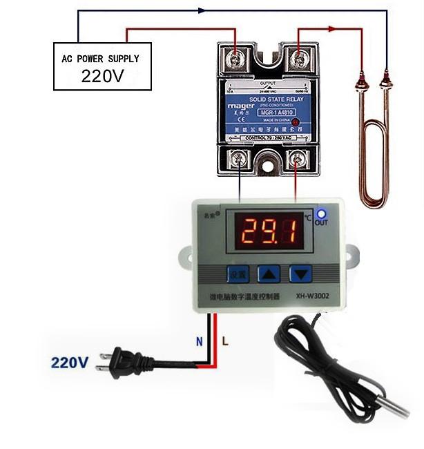 Терморегулятор электронный мощный термостат на 220V до 6000 Ватт - фото 2