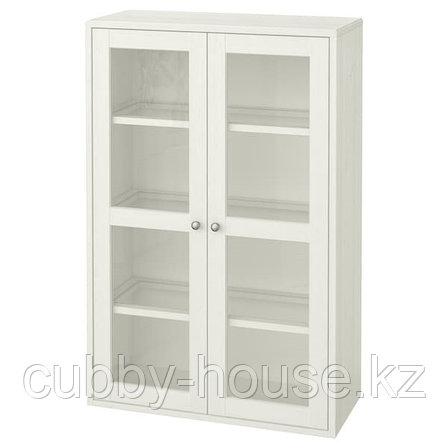 ХАВСТА Шкаф-витрина, серый, 81x35x123 см, фото 2