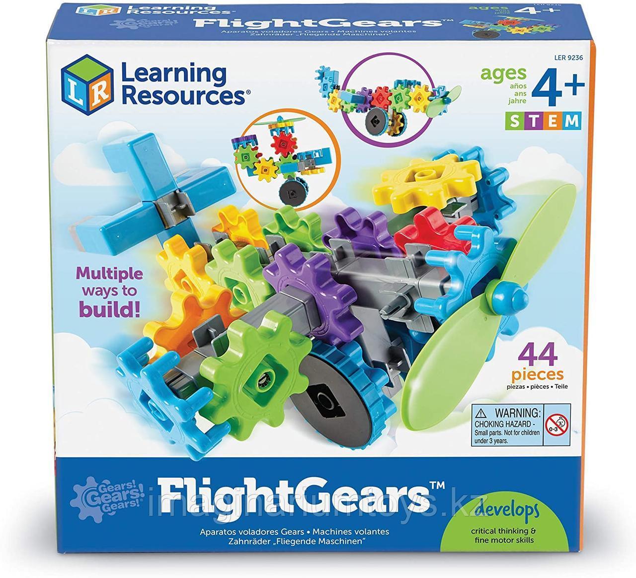 Развивающий конструктор Gears «Веселые шестеренки. Самолет»  Learning Resources