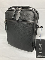 "Мужская сумка-барсетка через плечо ""B.W.S"". Высота 23 см, ширина 19 см, глубина 6 см., фото 1"