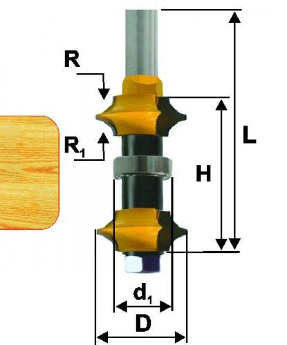 Фреза кромочная калевочная регулируемая Ф35 мм, хвостовик 12 мм