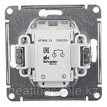 Atlas Design выключатель 1- клавишный с подсветкой, МЕХАНИЗМ, скрытая установка белый, фото 3