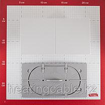 Atlas Design розетка 2я с заземлением, со шторками,со сдвижной крышкой , В СБОРЕ ,скрытая установка белый, фото 3