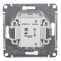 Atlas Design выключатель с самовозвратом, МЕХАНИЗМ ,скрытая установка белый, фото 3