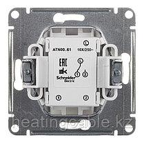 Atlas Design переключатель 1 -клавишный( вавьен),МЕХАНИЗМ скрытая установка белый, фото 3