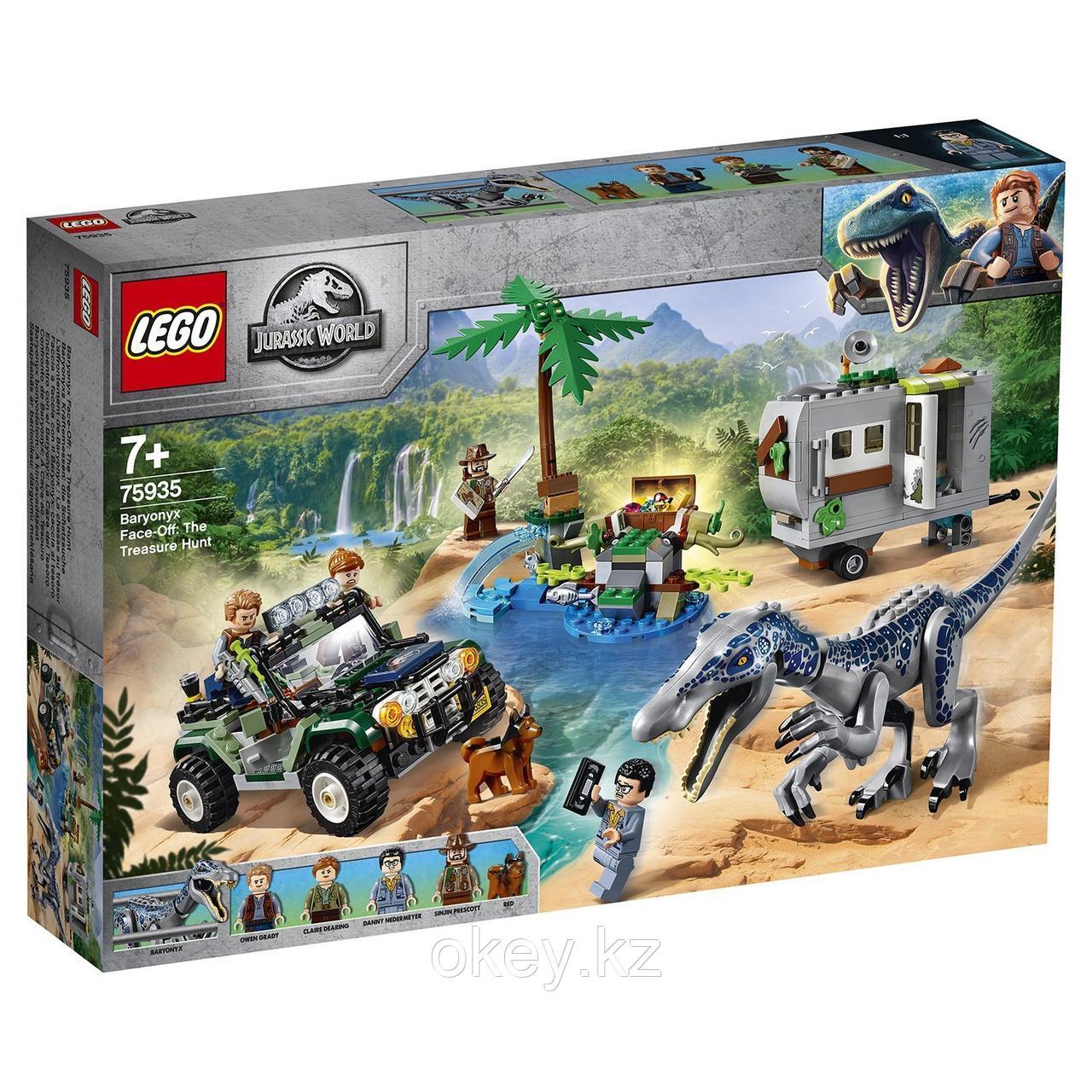 LEGO Jurassic World: Поединок с бариониксом Охота за сокровищами 75935