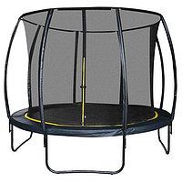 Батут 8 ft, d=244 см, с внутренней защитной сеткой, чёрный