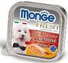 Monge Fresh 100г с Лососем паштет для собак Pate with Chunkies Salmone