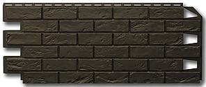 Фасадные панели 420x1000 мм VOX Vilo Brick DARK BROWN (Кирпич) Темно-коричневый без швов
