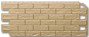 """Фасадные панели 420x1000 мм VOX Vilo Brick """"Sand"""" (Кирпич) """"Песочный""""без швов"""