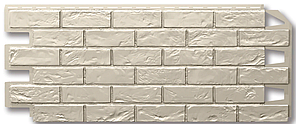 """Фасадные панели 420x1000 мм VOX Vilo Brick """"Ivory"""" (Кирпич) """"Слоновая Кость"""" без швов"""