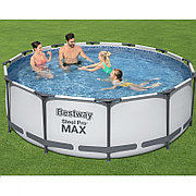 Каркасный бассейн круглый 366х100 см + фильтр-насос и лестница, Bestway 56418