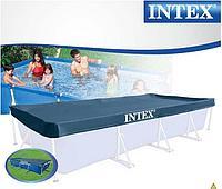 Тент для каркасного бассейна Intex 28039 Размеры 4.5x2.2 м