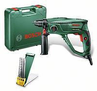 Перфоратор Bosch PBH 2100 RE + 2 сверла + 2 зубила 06033A9302