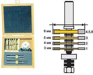 Фреза кромочная фальцевая Ф50,8 мм, 4 диска, хвостовик 12 мм