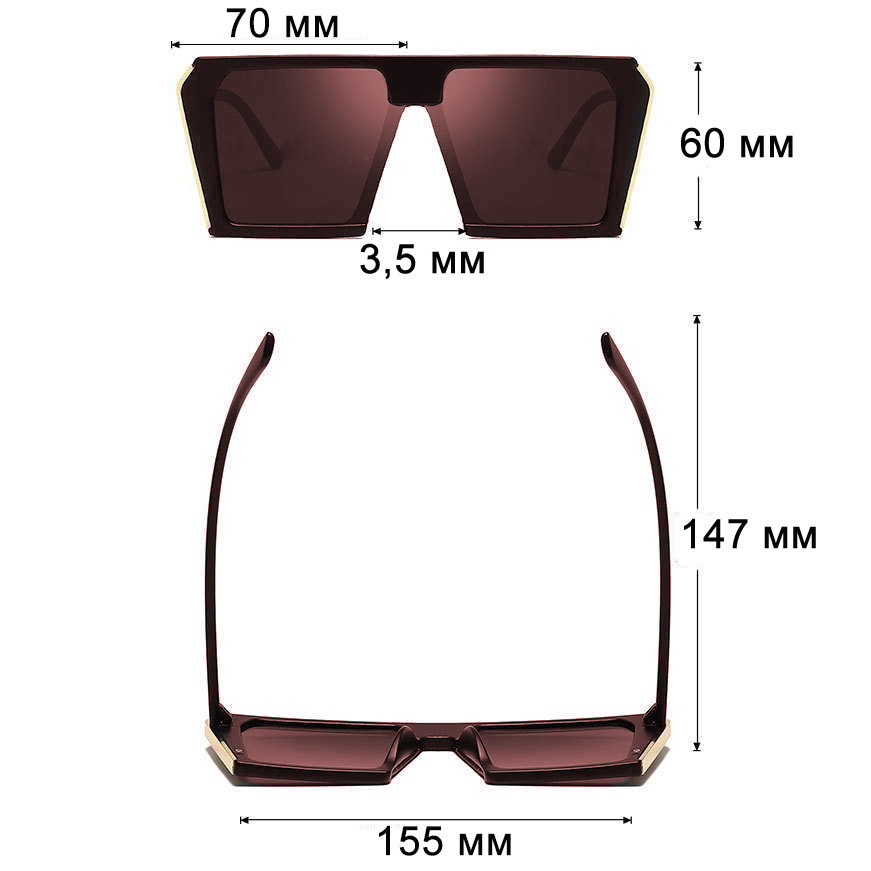 Солнцезащитные очки MIU MIU 3011 коричневые - фото 2