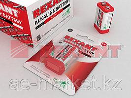 "Алкалиновая батарейка 6LR61 (""Крона"") ""REXANT"" 1шт 9 V 600 mAh блистер"