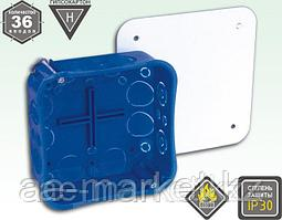 Коробка распр. под г/к 105*105*45) с креплением металлическими лапками