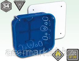 Электроустановочная коробка для гипсокартона и полых стен с креплением металлическими лапками