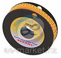 Маркер кабельный 0-9 комплект 10 роликов (от 3. 6 до 7. 4 мм) REXANT