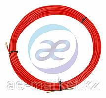 Протяжка кабельная (мини УЗК в бухте), стеклопруток, d=3, 5мм, 30м КРАСНАЯ