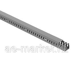 Перфорированый кабельный канал  25х25  (серый, 2м) Mutlusan