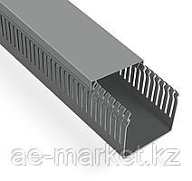 Перфорированый кабельный канал  100х100  (серый, 2м) Mutlusan