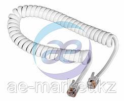 Шнур витой трубочный 2М телефонный черный/белый REXANT
