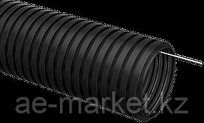 Труба гофрированная ПНД d=32мм с зондом черная (25м) IEK