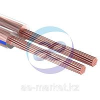Кабель акустический, 2х0.50 мм², прозрачный BLUELINE, 100 м.  REXANT