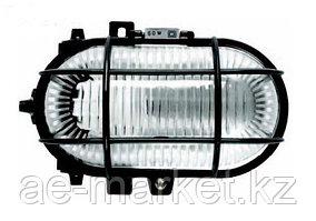 Светильник НПП 2604А-60 черн/овал с реш пластик IP54