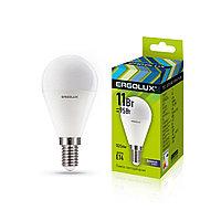 Эл. лампа светодиодная Ergolux G45/6500K/E14/11Вт, Дневной