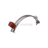 Держатель проводника круглого 6-8 мм для конька коричневый, оцинк.