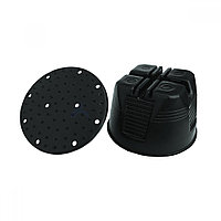 Держатель проводника круглого 8-10 мм для плоской кровли, пластик с бетоном