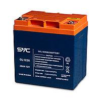 Аккумуляторная батарея SVC GL1226 12В 26 Ач (165*125*175), фото 1