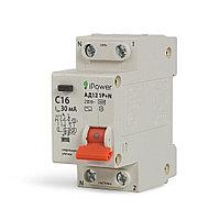 Дифференциальный автомат iPower АД12 1P+N 20A 30mA 4.5kA, фото 1