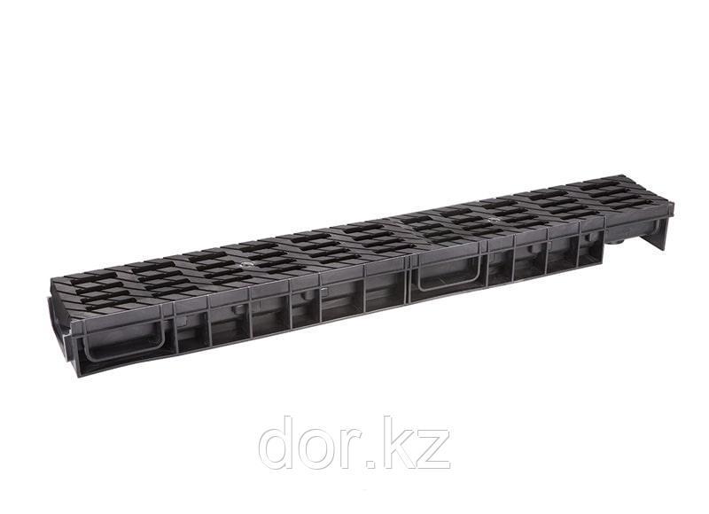 Лоток водоотводный  Ecoteck MEDIUM 100.65 h85 с решеткой пластиковой, кл.В125